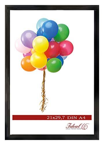 Ideal Trend Home Lifestyle Kunststoff Bilderrahmen 10x15 cm bis 50x70 cm Foto Rahmen: Farbe: Schwarz | Format: 50x70