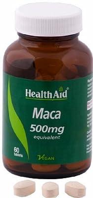 HealthAid Maca 500mg - 60 VeganTablets by HealthAid
