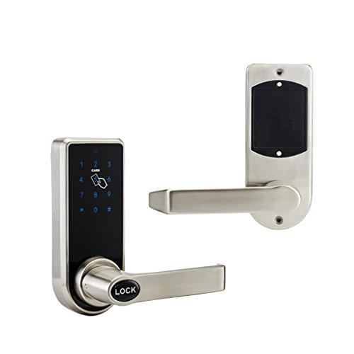 Sharplace Digital Elektronisches Türschloss mit Touchscreen für Haus Büro Sicherheit, Smart Code Lcok Elektronische Riegel Schlüsselanhänger