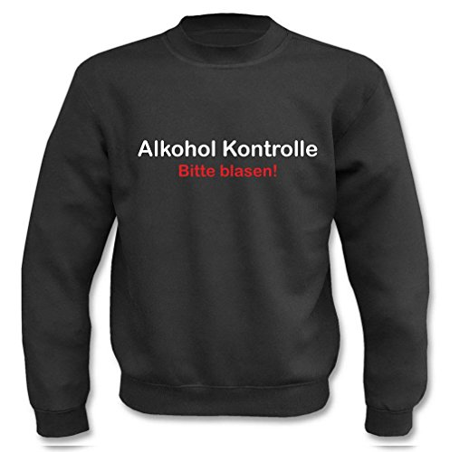 Pullover - Alkohol Kontrolle Schwarz