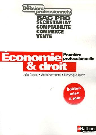 Economie et Droit 1e Professionnelle