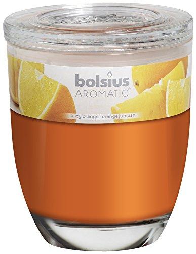 Bolsius 8717847085801 Duftglas groß, wachs, orange, 10 x 12 cm