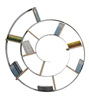 Kare 70755, Libreria da parete, modello: Snail, 75 x 75 x 13 cm, Argento