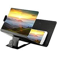 Mlec tech Amplificador de Video HD 3D 8 Pulgadas Amplificador de Teléfono Inteligente, Pantalla de Video Móvil Lupa, Pantalla Lupa Portátil 3D Lupa para Ampliar 2~4 Veces en Pantalla del Teléfono
