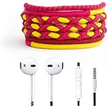 Crossloop Designer Series 3.5mm Universal In-Ear Headphones With Mic And Volume Control (Mehrun, Yellow & Pink)