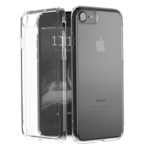 CREED iPhone 7 Black Ghost GLASS EDITION (inkl. iPhone 7 Panzerglas / iPhone 7 Panzerfolie) Schutzhülle für iPhone 7 Hülle - Schutzhuelle, iPhone 7, iPhone 7 Case - flexibles Smartphone-Case – inkl. m Ghost - Crystal clear