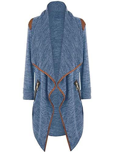 iHENGH Damen Herbst Winter Jacke Warm Bequem Mantel Lässig Mode Frauen Gestrickte lässige Lose Langarmshirts Strickjacke Outwear Plus (Cinderella Kostüm Plus Größe)