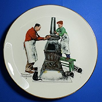 Norman Rockwell Gorham * * 1979 Le Vier Saison Plates-The Kohle Jahreszeiten Coming, Fall * * nr1979-3 -