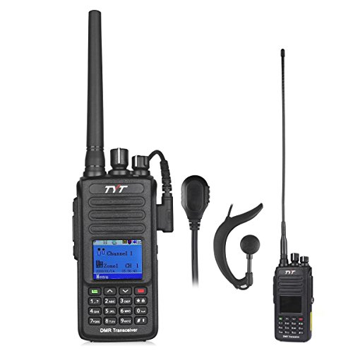 TYT Upgraded GPS MD-390 DMR Digital Radio, with GPS Function! Waterproof Dustproof IP67 Walkie Talkie, UHF Two-Way Radio, Transceiver Compatible with Mototrbo, with 2 Antenna & Headset