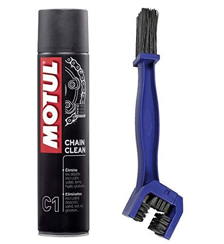 Kit pulizia catena motul c1 400ml + spazzola pulizia catena
