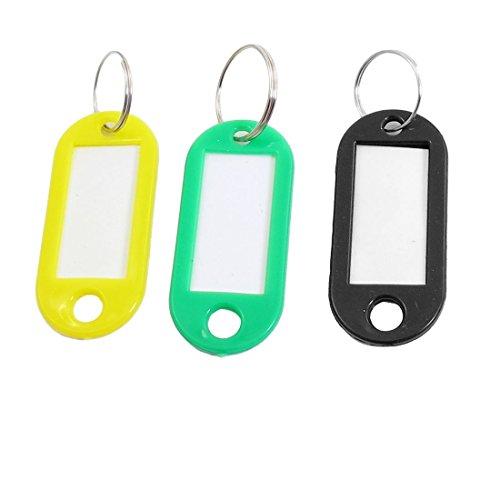 Fabrik Tri Farben Kunststoff Mini-Halter ID Key Etiketten Tags Schlüsselanhänger Schlüsselanhänger 10PC