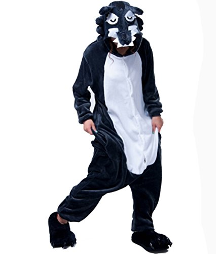 Outdoor top Polar Fleece Unisex Wolf Einteiler Cosplay -