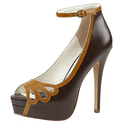 Heels-Perfect , Hi-Top Slippers femme Marron