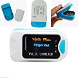 CONTEC CMS50N BLUE OLED Fingertip Pulse Oximeter Spo2 Blood Oxygen Saturation Monitor with Pouch