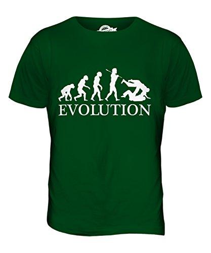 CandyMix Judo Evolution Des Menschen Herren T Shirt Flaschengrün