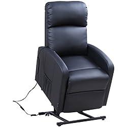 Astan Hogar Confort Lift Up Sillón Relax con reclinación automática, Acero, Negro, Compacto