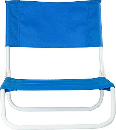 Strandstuhl Beach Klappstuhl Strand 48x44,5x52 Strand Stuhl 1.2Kg faltbar auf ca 64 x 45 x 16 cm Camping Stuhl Farbwahl (Blau)