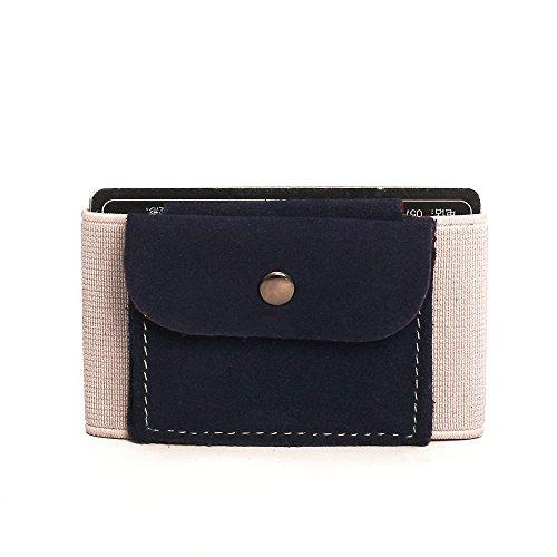 Premium Slim Wallet mit Münzfach & Geldklammer – Mini Portemonnaie für Herren & Damen - Kleine Geldbörse, minimalistisches Kartenetui - Top Grain Leder (Slim Münzfach Wallet-mit)