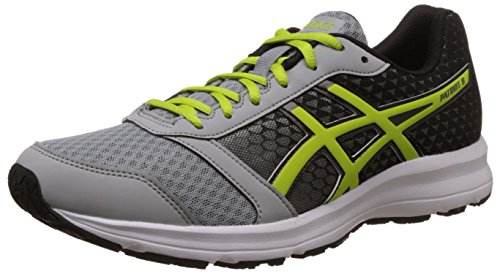 Asics Men's Patriot 8 Silver Grey, Lime and Black Running Shoes