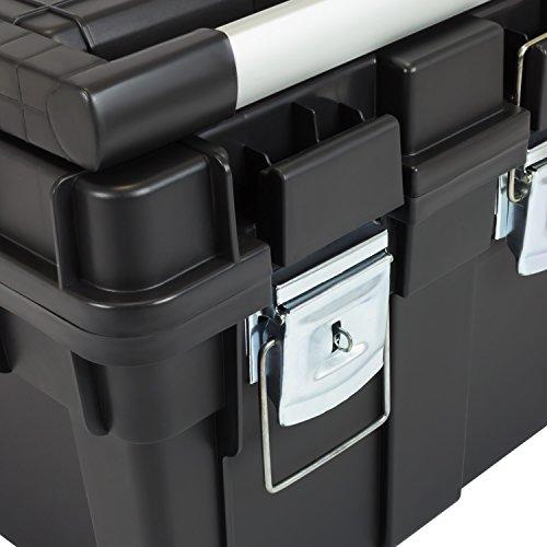 HD Compact 1 Werkzeugkoffer Box Toolbox Werkzeugkiste 450x350x350 Alugriff schwarz - 9