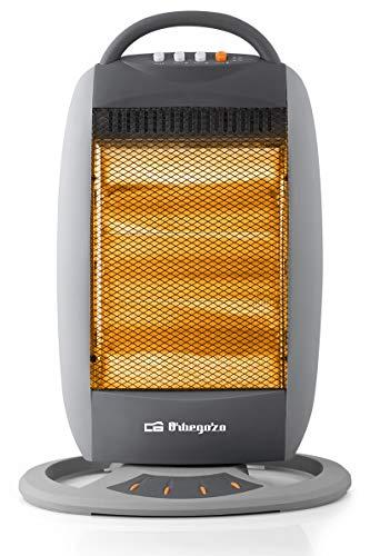 Orbegozo BP 5008 - Estufa halógena oscilante, 1200 W, 3 niveles de potencia, silencioso, oscilación...