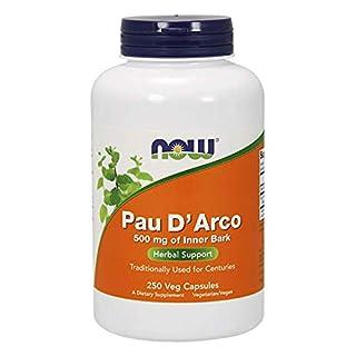 Now Foods Pau D'Arco Glutenfrei 500mg, 250 vegane Kapseln