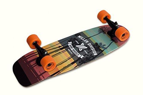 Surf Skate modelo Kirra de la marca Miller Division. Diversión grantizada. Giros extremos gracias al eje delantero XRKP sin muelles, muy ligero. Surfea en el asfalto