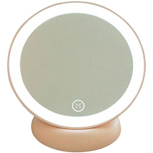 Espejo De Maquillaje Con Lámpara LED Carga Espejo De Escritorio Portátil Belleza Espejo De Vanidad...