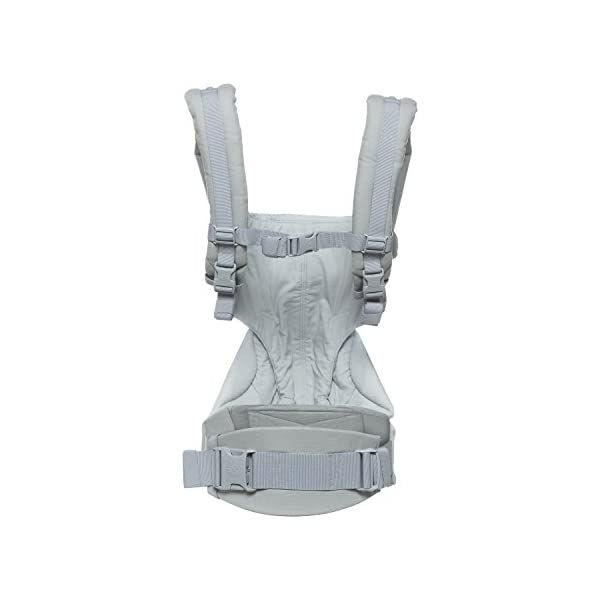 Ergobaby Baby Carrier up to 3 years (12-45 lbs) 360 Pearl Grey, 4 Ergonomic Carry Positions, Front Facing Baby Carrier, Child Carrier Backpack Ergobaby Ergonomic carrier with 4ergonomic carry positions: front-inward, back, hips, and front-outward. New - the waist belt with lumbar support can be worn a little higher or lower to support the lower back and provide optimal comfort, and has adjustable padded shoulder straps. Maximum baby comfort - the structured bucket seat supports the correct frog-leg position for the baby. 7