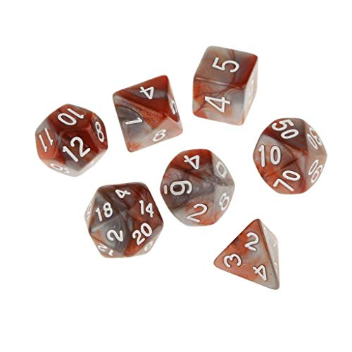 Generic 6 Set of 7 Multi Sided Dice Dungeons DD RPG Games - 6 XL