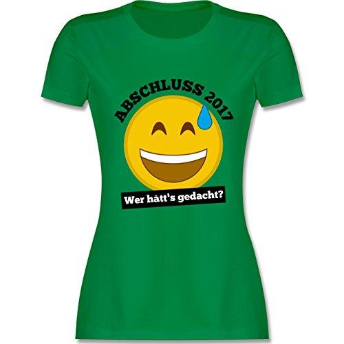 Abi & Abschluss - Abschluss 2017 - Wer hätt's gedacht? - tailliertes Premium T-Shirt mit Rundhalsausschnitt für Damen Grün