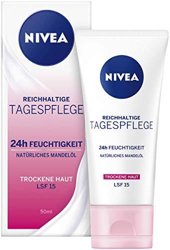 NIVEA Essentials Tagespflege 24h Feuchtigkeit + Reichhaltigkeit im 4er Pack (4 x 50 ml),...
