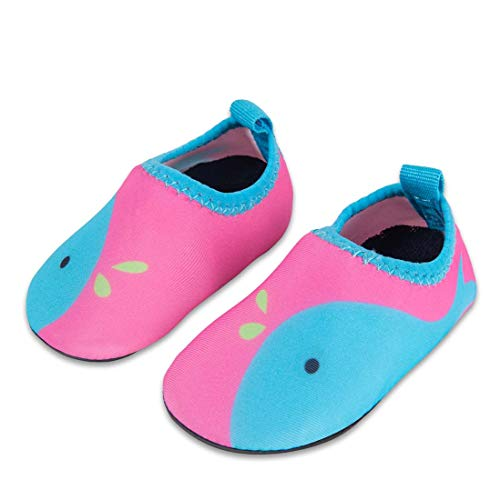 Laiwodun Toddler shoes Kids Swim Water Shoes Boys Girls Barefoot Aqua Socks Shoes for Beach Pool Surfing Yoga Unisex(4-20-21)