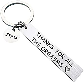 Xiang Ru Lover Engraved Stainless Keychain Key Rings Present Couple Gift Valentines Day for Women Men