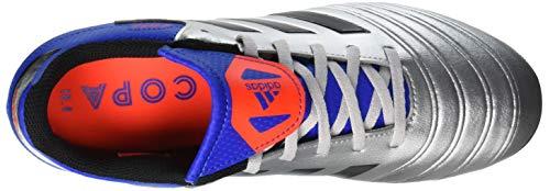 adidas Boys  Copa 18 4 FxG J Shoes   Silver Met  Core Black Football Blue   2 UK 2 UK