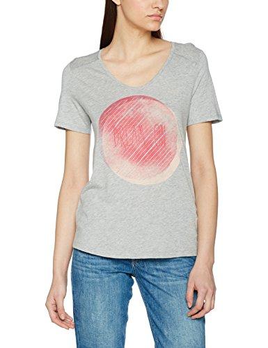 s.Oliver Damen T-Shirt 14703323200, Grau (Grey Melange Placed Print 94E2), 38