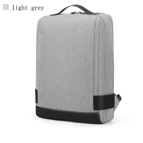 Neue Business-Rucksack 15,6-Zoll-Computer-Tasche große Kapazität College-Tasche Reisen Mode Umhängetasche männlichen Spritzbeutel Schultertasche ( Color : Light gray )