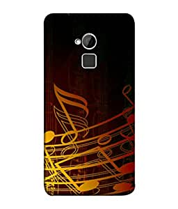 PrintVisa Designer Back Case Cover for HTC One Max :: HTC One Max Dual SIM (Fancy shades notes yellow red maroon)