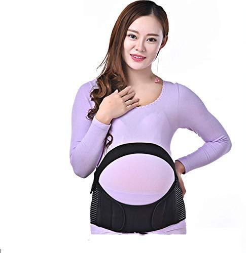 MZ Schwangerschaftsunterstützung für anblierende Frauen, aufbereitete und komfortable Schwangere mit Stomach Liftgürtel und Gedächtnisstütze,Black,XL