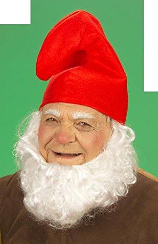 1 x Zwergenmütze Mütze rot Zwerg Fasching Karneval fürs Kostüm Schlumpf