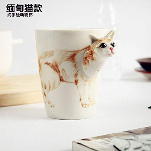 3D Animal Cup Reine handbemalte Keramik Tasse Cute Cartoon Mug Ceramic Coffee