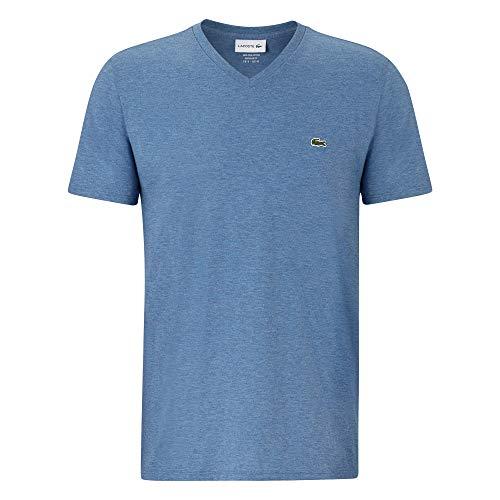 Lacoste Herren T-Shirt V-Ausschnitt TH6710,Männer Basic Tshirt,Tee,Regular Fit,Alby Chine(5CH),X-Large (6) -