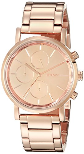 Dkny Women's NY8862 Rose-Gold Stainless-Steel Quartz Watch with Rose-Gold Dial