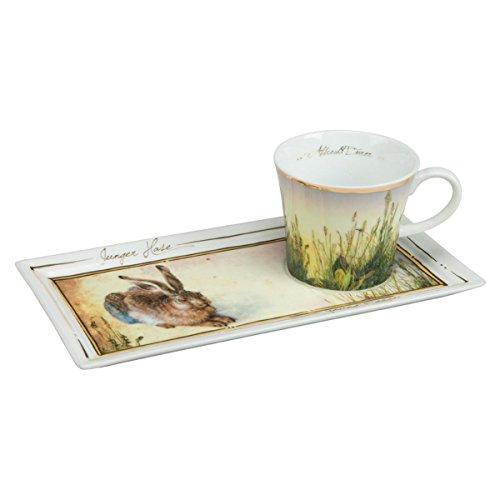Goebel 66513862'Junger Hase Kaffee Set, Porzellan, bunt, 24 x 12 x 8 cm