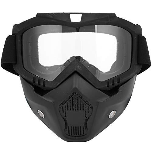 Naroote Sport-Gesichtsmaske, im Freien für die Motorrad-Winddichte Glas-Schutzbrille-Radfahrenausrüstung(Transparent)
