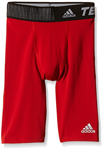 adidas Jungen Techfit Base Shorts, Rot, 140, S88015