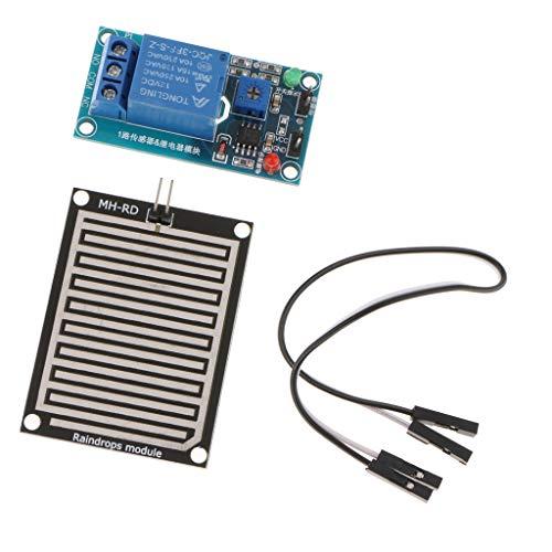 F Fityle Regentropfen Erkennung Sensor Modul Regen Wetter Modul Luftfeuchtigkeit Für Arduino -