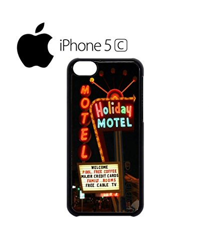 Holiday Motel Hotel America Mobile Cell Phone Case Cover iPhone 5c Black Schwarz
