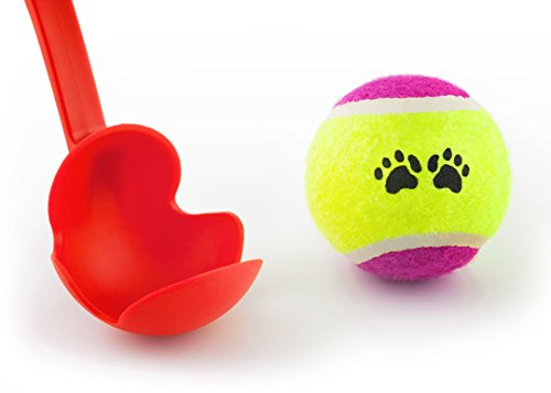 Lanzador y Pelota de Tenis Honda de la Pelota para Perros Juguetes para Mascotas Eslinga de Pelota