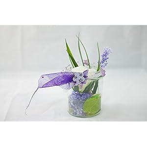 Sommerglas in lila und grün